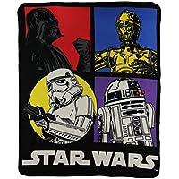 Star Wars Classic Character lightweight Fleece Throw Blanket