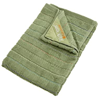 Full Circle Stick'em magnet kitchen dish towel, Green