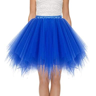 Faldas Tul Mujer Enaguas Cortas Tutus Plisada Ballet Bridesmay ...