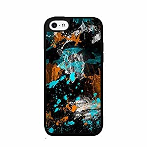 Paint Splatter on Black Background Plastic Fashion Phone Case Back Cover for iphone 5c