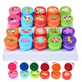 TUANTUAN 20 Pcs Self-ink Stamps Multi Colour Bright Sea Farm Animal Ink Stamps for Birthday Party Supply, Pinata Toy, Carnival Prizes, Teacher Stampers, Classroom Reward