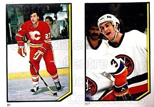 (CI) John Tonelli, Pat Flatley Hockey Card 1986-87 O-Pee-Chee Stickers 081-207 John Tonelli, Pat Flatley (1986 87 O Pee Chee Hockey Cards)