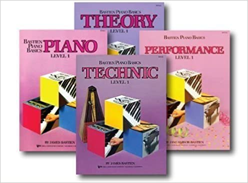 bastien play along level one technic adult or childrens piano basics includes cd