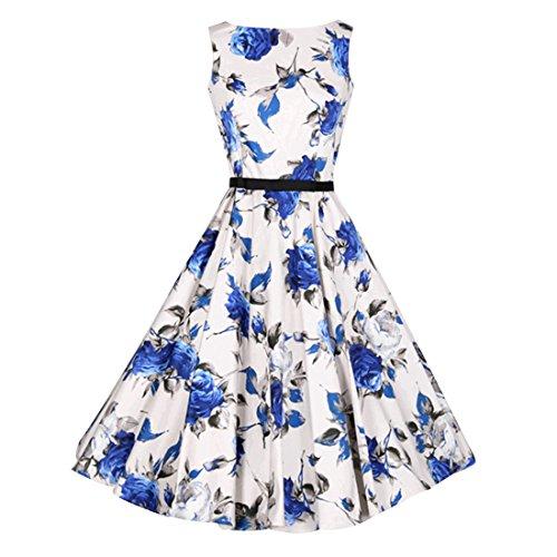 Zhishang 50s Rockabilly Kleid Festliches Kleid Partykleider ...