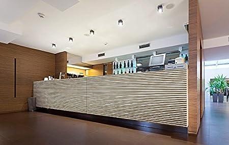 Revestimiento autoadhesivo aspecto metal WallFace 18583 PIANO Iron Age vintage rayas longitudinales color platino y junturas negras   2,60 m2: Amazon.es: ...