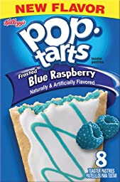 Kellogg\'s, Pop-Tarts, Limited Edition, Frosted Blue Raspberry Toaster Pastries, 8 Count, 14.1oz Box (Pack of 3)