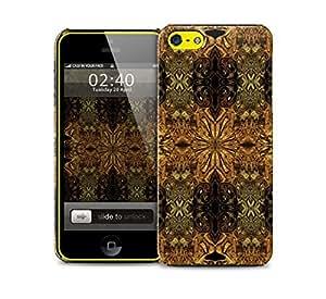 dark kaleidoscope pattern iPhone 5c protective phone case