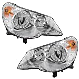 Pair Set Combination Headlights Type 1 Headlamps Replacement for 07-10 Chrysler Sebring 5303747AE 5303746AE