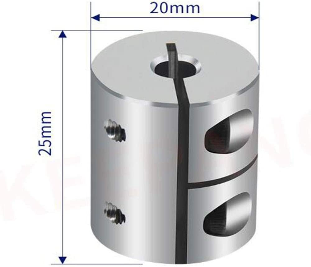 6mm 7mm 5mm Color : 4X7 4mm 8mm Inch CNC Connection 6.35mm XXBY Coupling Shaft Rigid Shaft Coupler Clamp Stepper Servo Motor Coupling D20 L25 3mm