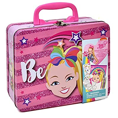 Jojo Siwa Coloring and Activity Tin Box, Includes Markers, Stickers, Mess Free Crafts Color Kit in Tin Box, for Toddlers, Boys and Kids: Toys & Games
