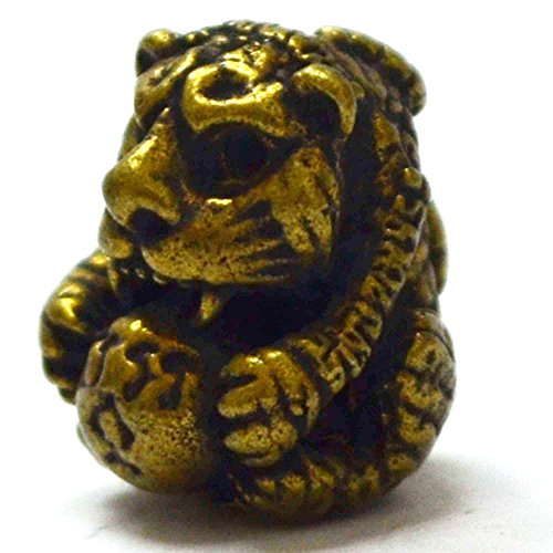 [Jewelry Buddha Tiger Amulets Fighter Tiger Pendants Lp Pern,Life Protection] (Bowl Of Rice Costume)