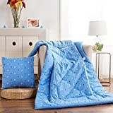HOMEE Cotton Quilts Pillow Cushion the Pillow Sofa Office Car Pillows Cool in the Summer is Thick-,5050, Annecy Time,Character,5050