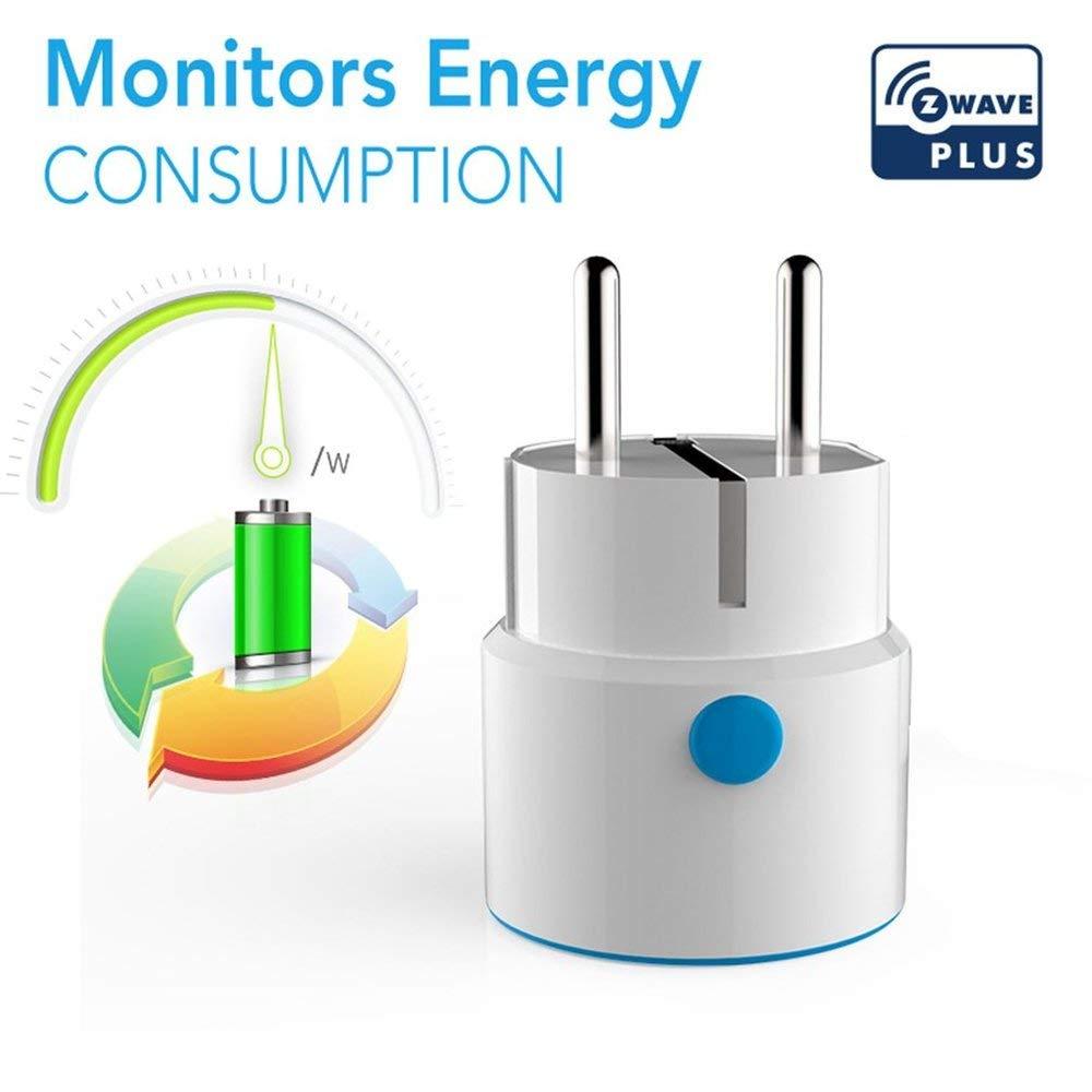 NAS-WR01ZE Z-Wave Smart Spina di alimentazione Presa di corrente UE Presa ripetitore Presa di corrente Smart Home Automation Alarm System - Bianco Erduo