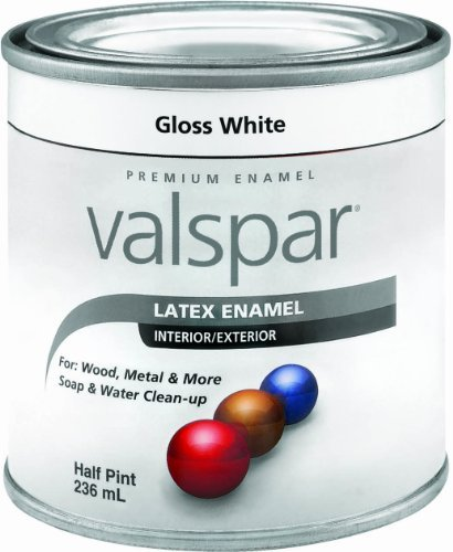 Valspar 65000 Premium Interior/Exterior Latex Enamel, .5-Pint, White Gloss by Valspar