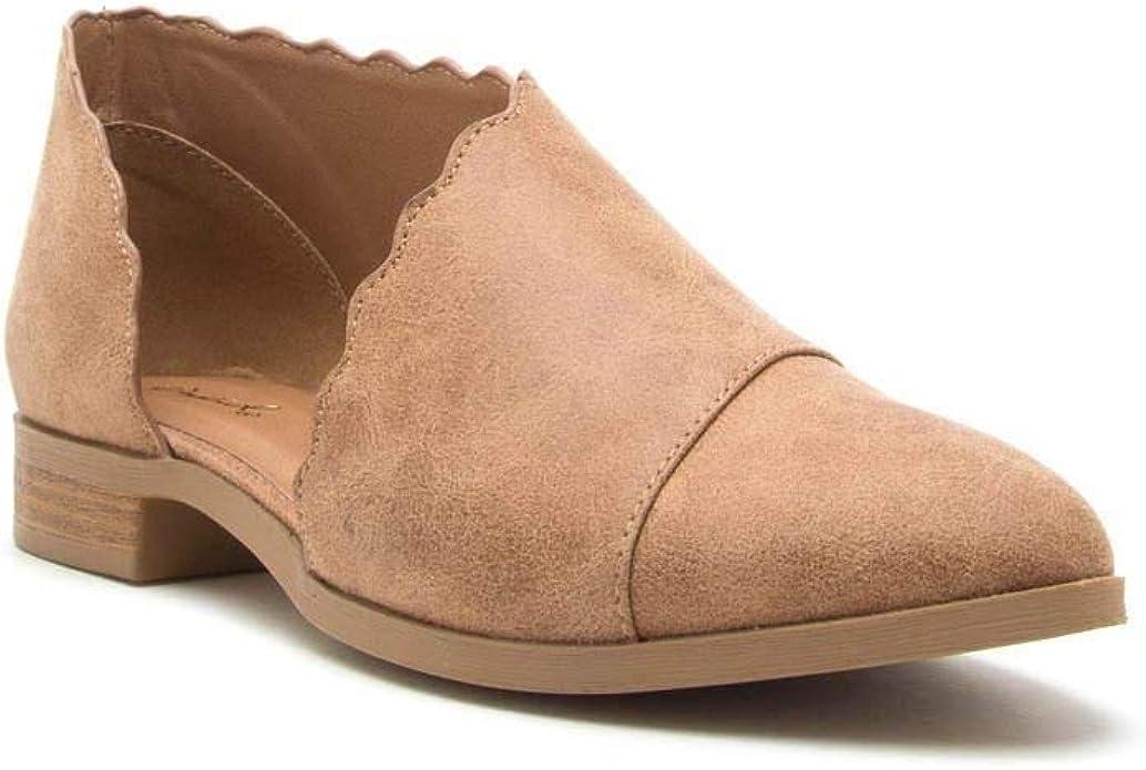 Qupid Womens TUXEDO-87 Shoes Camel