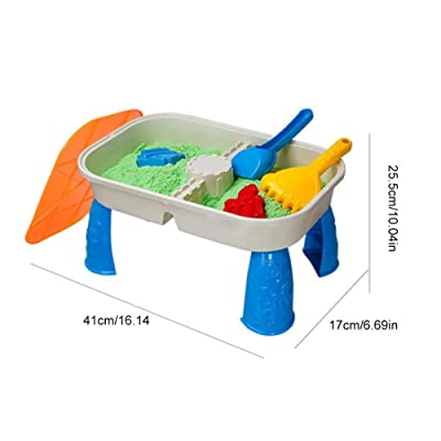 reakfaston Beach Toys Sand Table Toys 2 in 1 Kid Pretend Playing Beach Sand Table Toys Set: Home & Kitchen