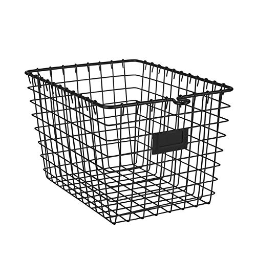 Spectrum Diversified Wire Pet, Toy, Office, Dorm Storage Basket Bin Organizer, Small, Black ()