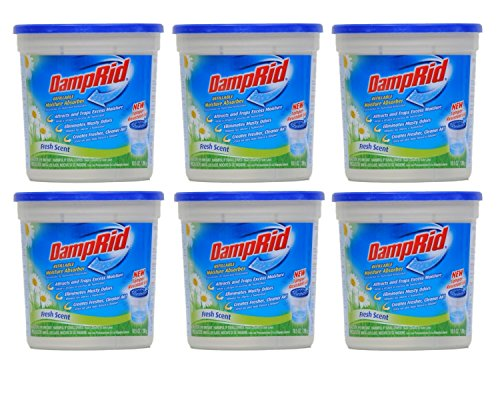 Damprid Moisture Absorber Fresh Scent, 10.5oz (Pack of 6)