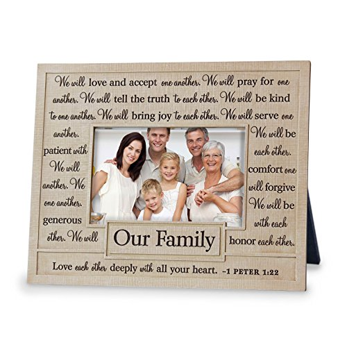 Lighthouse Christian Products One Another Our Family Frame, 4 x 6'' by Lighthouse Christian Products