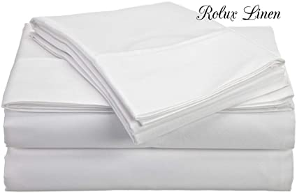 rolux linen queen sleeper sofa bed sheet set white solid 100 cotton 800 thread count fit up to 8 inches deep mattress rh amazon com twin sofa bed sheet set sofa sleeper sheet sets