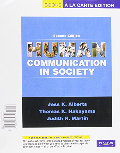Human Communication in Society, Books a la Carte Plus MyCommunicationLab (2nd Edition)