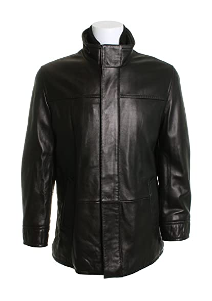 Black and white store leather jacket