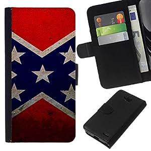 All Phone Most Case / Oferta Especial Cáscara Funda de cuero Monedero Cubierta de proteccion Caso / Wallet Case for LG OPTIMUS L90 // Star flag