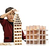 NEOWOWS 200 Pieces Wooden Building Blocks Stacking Games Construction Educational Toys for Kids Toddlers Boys Girls