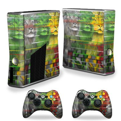 MightySkins Skin Compatible with X-Box 360 Xbox 360 S Console - Lion Evolution | Protective, Durable, and Unique Vinyl Decal wrap Cover | Easy to Apply, Remove, and Change Styles ()
