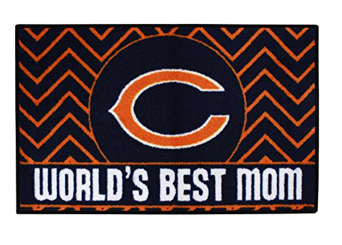 FANMATS 18021 Chicago Bears World's Best Mom Starter Rug - Bears Starter Mat