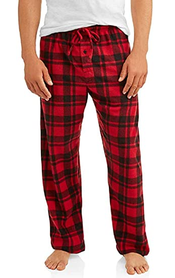 1fcf35eca7 Amazon.com  Hanes Men s Microfleece Plaid Sleep Pant  Clothing
