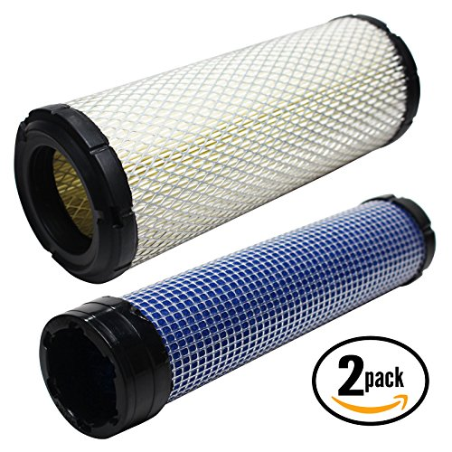 2-Pack Replacement John Deere 737 Air Filter & Inner Air Filter - Compatible John Deere 2508304-S Inner Air Filter & 2508301-S Filter