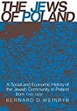 img - for The Jews of Poland: A Social and Economic History of the Jewish Community in Poland from 1100 to 1800 book / textbook / text book
