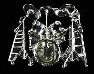 Harmony Jewelry Ludwig Drumset Pin - Silver