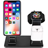 3 in 1 Charging Stand for Apple Watch iPhone AirPods, PhoCar Charging Station for Multiple Devices, Desktop iWatch Stand…