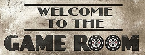 Welcome to the Game Room Metal Street Sign