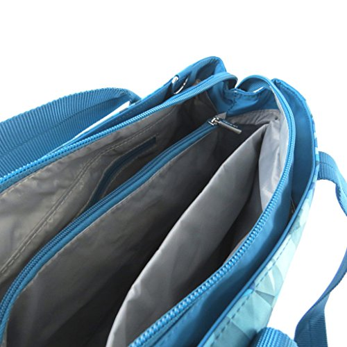 Bag Hedgrentriangoli turchesi (2 scomparti)- 38x24x11 cm.