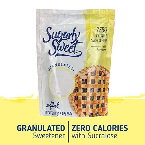 (SUGARLY SWEET Zero Calorie Granulated Sweetener with Sucralose, Baking Blend, Sugar Substitute, Sugar Alternative, 1.5 Pound Bag (24)