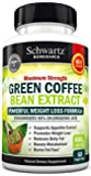 Green Coffee Bean Extract 800mg with GCA - Extra Strength Weight Loss Pills with 50% Chlorogenic Acid - Green Coffee Bean to Lose Weight - No Side Effects - Made in USA. Money Back Guarantee (60 vaggie caps)