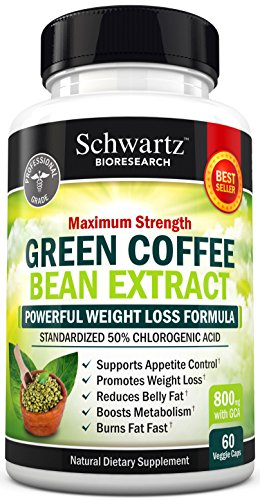 Green Coffee Bean Extract 800mg with GCA - Extra Strength Weight Loss Pills with 50% Chlorogenic Acid - Green Coffee Bean to Lose Weight - No Side Effects - Made in USA. Money Back Guarantee (60 vaggie caps) (Naturabest Green Coffee Bean compare prices)