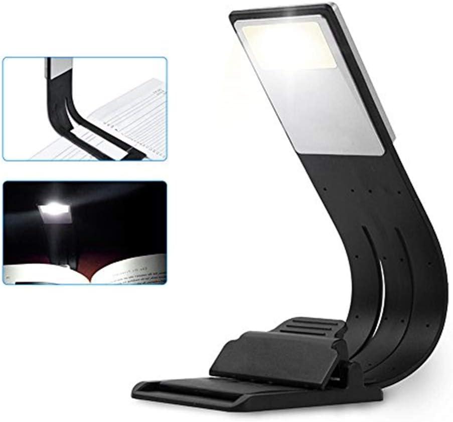 Clip Light USB-Aufladbare Lampe Augenpflege Doppelt als Lesezeichen Flexibel Leselampe mit 4 Stufen dimmbar für Buch ebook Lesen im Bett - Klemmleuchte
