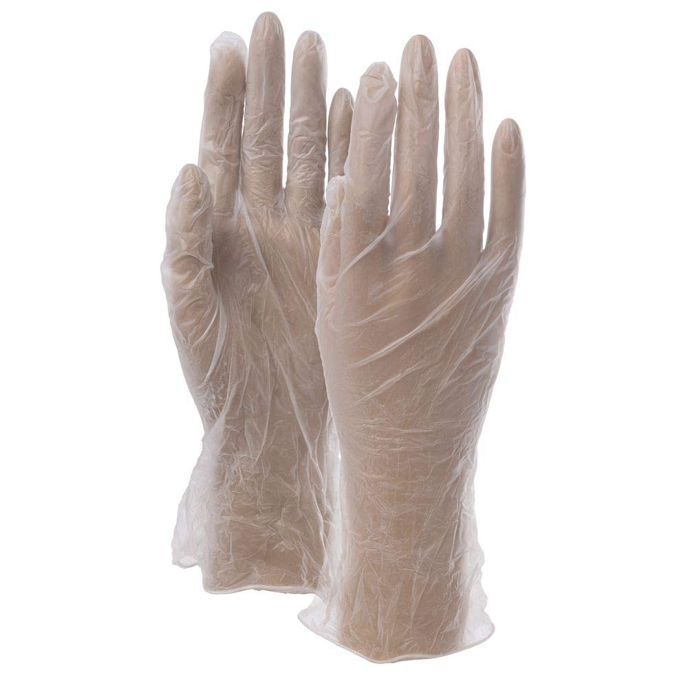 Clear Vinyl Lightly Powdered Disposable Gloves - Small