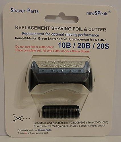 Reemplazo alternativo de la cuchilla de afeitar eléctrica Braun y cuchilla (cuchilla) 10B / 20B / 20S / 20R (este no ...