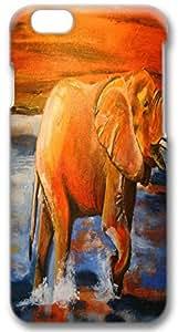 Custom Iphone 6 Plus Case,Leisure elephants painting 3D Iphone 6 Plus Cases