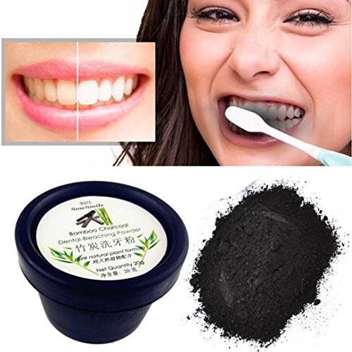 Dental Fibers Tooth Powder - Natural Organic Activated Charcoal Powder Teeth Whitening Total Whites 20G (D)