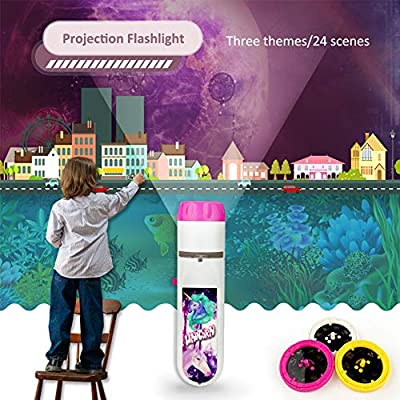 Projector Flashlight Night Photo Picture Light Bedtime Study Learning Fun Toys for Baby Kids 3 Age (5 Pack): Toys & Games