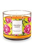 Bath and Body Works 3 Wick Scented Candle Pineapple