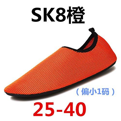 scarpe del arancione scarpette da SK di surf calzini corsa Yoga 8 scarpe uomini spiaggia uomini Lucdespo scarpe da palestra wHqFUI0I