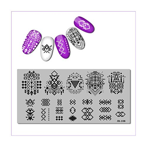 Stainless Steel Stamping Plate Template Xmas Christmas Snow Tea Cup Mandala Red Wine FlowerJR101-110,Drag 108