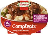 Hormel Compleats Meatloaf with Potatoes & Gravy, 9-Ounce Microwavable Bowls (Pack of 6)